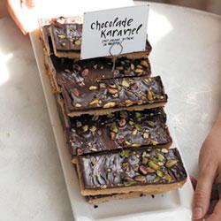 Chocolade-karameltaart met zeezout